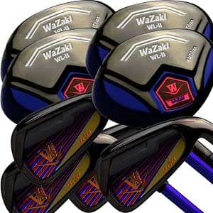 Japan Wazaki Black Finish WL-IIs 4-SW Combo Hybrid Irons