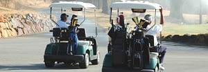 Cardinal and Rabbi in Golf Carts